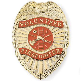 Galls Volunteer Firefighter Badge