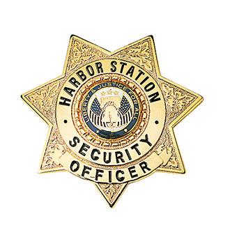 LawPro Custom Engraved Deluxe Badge 7 Point Star