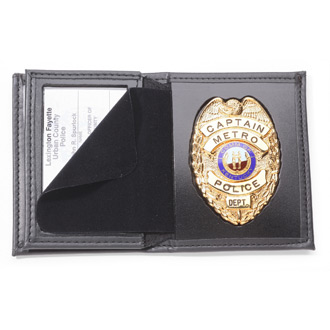 Perfect Fit Hidden Badge Wallet with Credit Card Slots and I