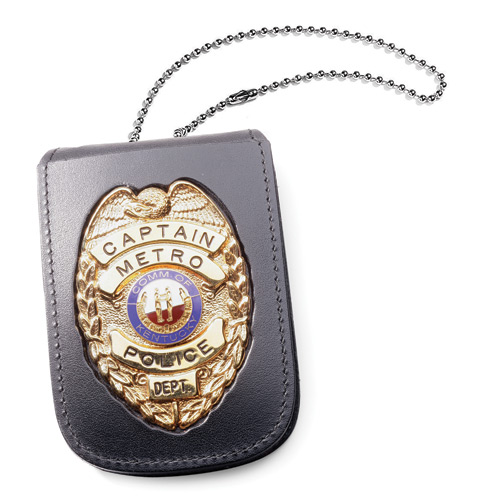 "Perfect Fit Recessed Neck Badge and ID Holder with 30"" Chain"