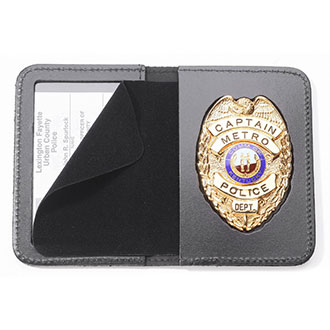 Perfect Fit Duty Book Style Leather ID and Badge Case