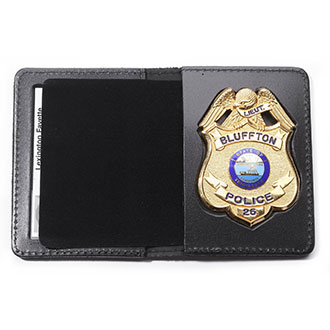 Perfect Fit Duty Leather Book Style Badge Case