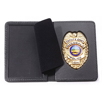 Perfect Fit RFID Blocking Duty Book Style Leather ID and Bad