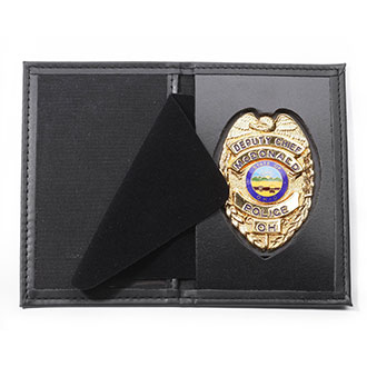 Perfect Fit RFID Blocking Dress Leather Recessed Badge and S