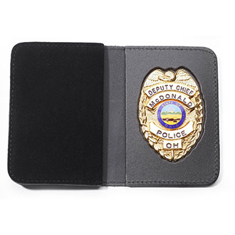 Perfect Fit Duty Leather Recessed Badge & Double ID Case