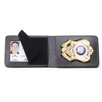 Perfect Fit Duty Leather Top Open Badge Case