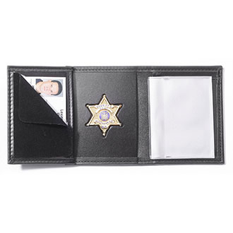Perfect Fit Recessed Badge Wallet with Credit Card Slots and