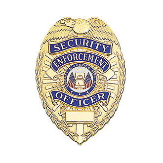 LawPro Deluxe Security Enforcement Officer Badge