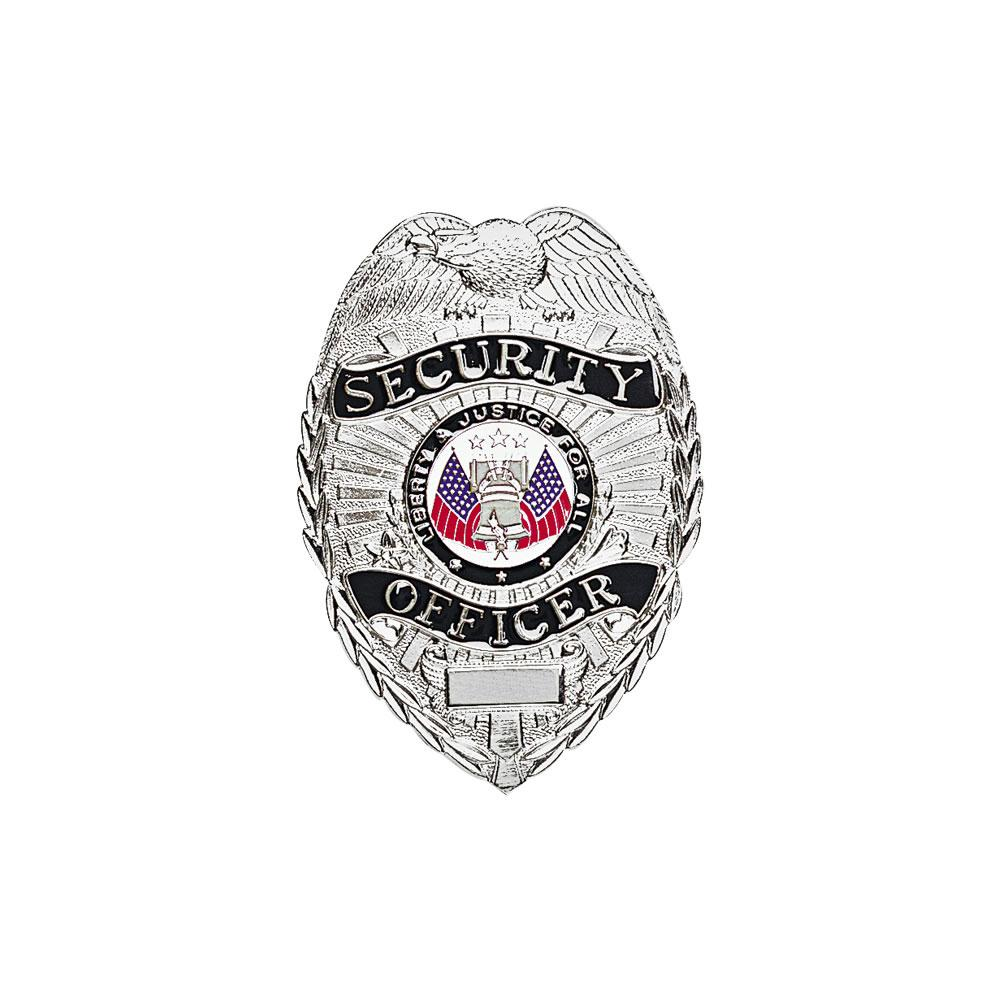 LawPro Deluxe Security Off Badge w/ Black on Silver