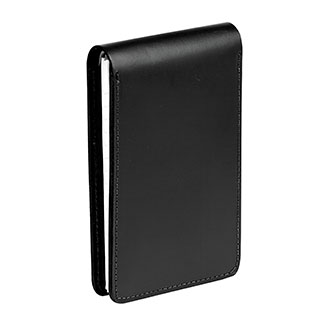 LawPro Black Leather Notebook in Smooth Finish