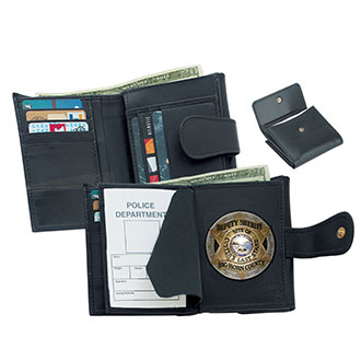Strong Female Leather Badge Wallet