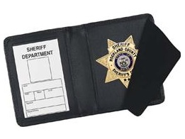 Strong Leather Side Opening Badge Case