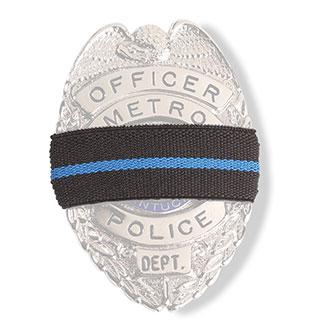 Blue Line Memorial Badge Ribbon