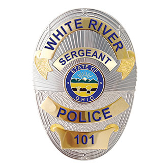 LawPro LAPD Style Custom Engraved Badge