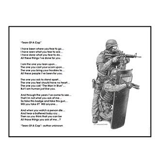 Dick Kramer Tears of a Cop Print