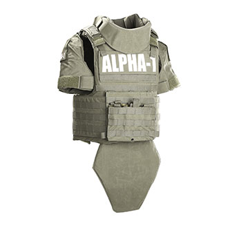 Paraclete ALPHA 1 Tactical Vest Complete Set with AXIIIA Bal