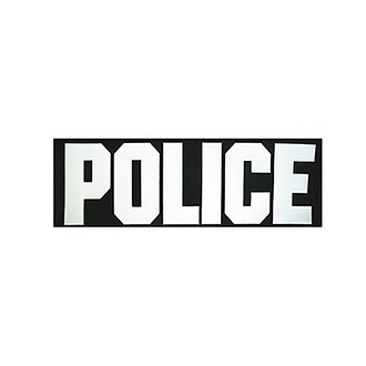 United Shield 3x8 Shooter's Vest POLICE ID Placard