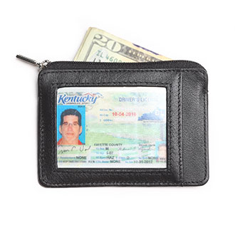 Identity Stronghold RFID Leather Mini Wallet
