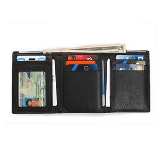Identity Stronghold RFID 8 Slot Tri-Fold Wallet