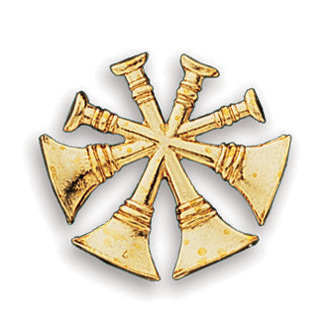 Blackinton 4 Crossed Bugles Pin