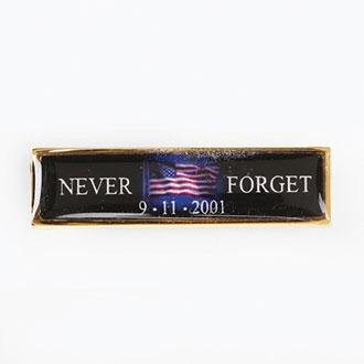 Blackinton 9-11 Commendation Blk Flag Never Forget