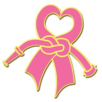 Blackinton Gold Plate Breast Cancer Awareness Heart Ribbon L
