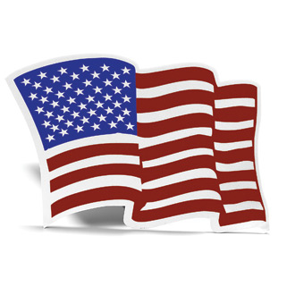 VISCO Reflective American Flag Decal