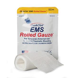 QuikClot EMS 3 x 48 Rolled Gauze