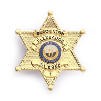 Blackinton FlexBadge FLX956 6-Point Star