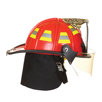 "Fire Dex 1910 Traditional Style Helmet with 4"" Face Shi"