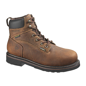 "Wolverine 6"" Brek Durashocks Waterproof Steel Toe Boot"