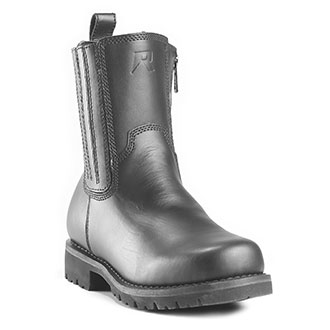 Ridge Leather Side Zipper Boot