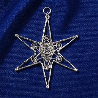 Quantum Jewelry Silver Police Ornament