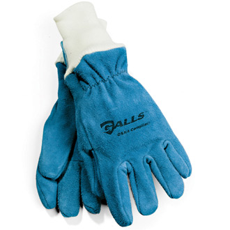 Galls Leather Gloves with Knit Wrists