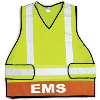 Galls ANSI Class 2 Polyester Vest with Incident Command Titl