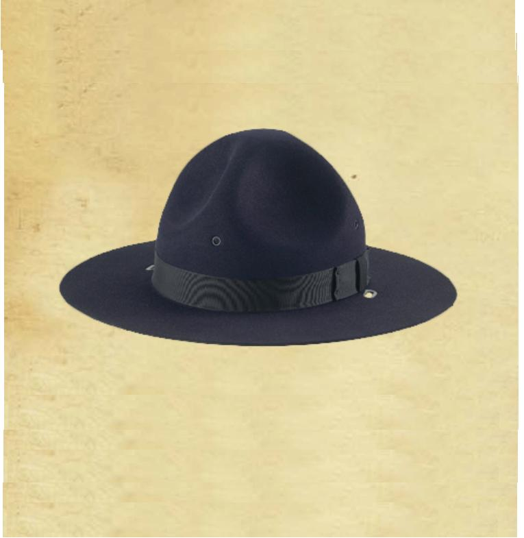 Galls Felt Campaign Hat with Adjustable Leather Chinstrap