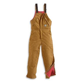 Carhartt Men's Duck Zip to Waist Quilt Lined Biberall