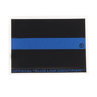 "Blue Line Regular Identifier Sticker 2"" x 3"" (JW07"