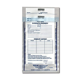"Sirchie Integrity Evidence Bags 10 1/2""L x 7 1/2""W"