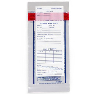 "Sirchie Integrity Evidence Bags 100 7 1/2""L x 4""W"
