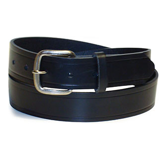 "1-1/4"" Heavyweight Leather Work Belt with Snap on BKL-SLVR"