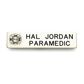 Galls Laser Engraved Emblem Nameplate with Maltese Cross 2 L