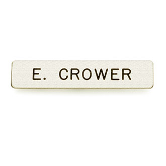 "LawPro 1 Line Brass Nameplate 1/2"" x 2 3/8"""