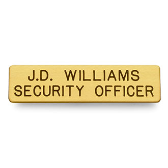"LawPro Two Line Brass Nameplate 2 3/8"" x 1/2"""
