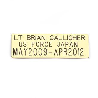 "LawPro Three Line Custom Engraved Nameplate 1"" x 3"""
