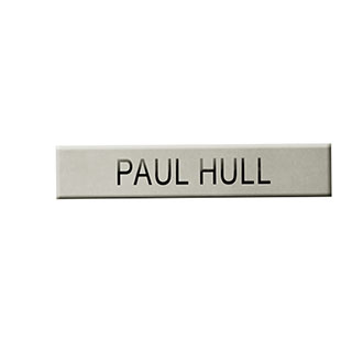 LawPro Brass Nameplate 5/8 x 2 1/2 Chrome 1 Line
