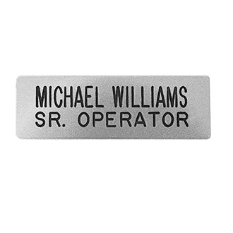 "LawPro 2 Line Chrome Nameplate 1/2"" x 2 1/2"""