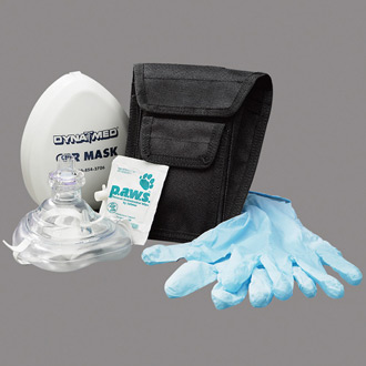 Dyna Med CPR Mask Holster Kit with O2 Inlet