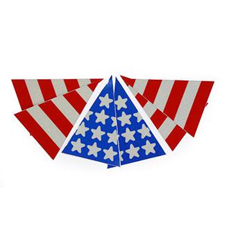 VISCO American Flag Triangle Helmet Graphics