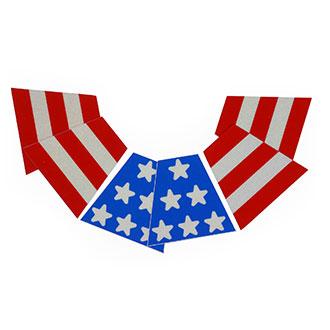 VISCO American Flag Tetrahedron Helmet Graphics